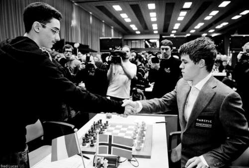 Caruana e Carlsen