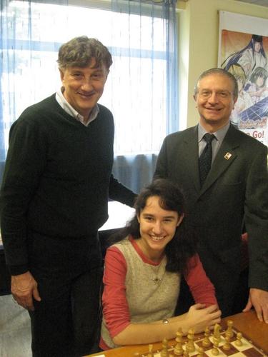 Marzorati e Barrera con Roberta Brunello