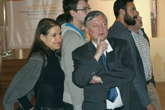 Qui con Karpov, amico e avversario di Misha in tante epiche battaglie