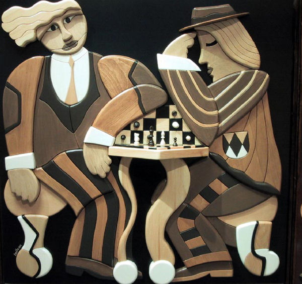 Alan Boileau Two men playing chess