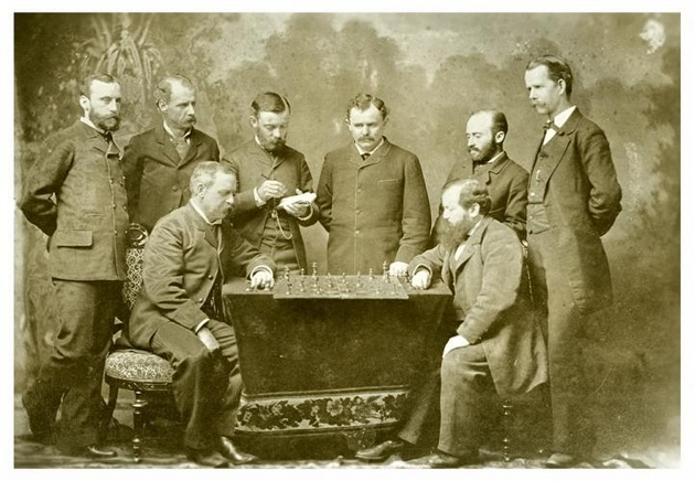 Steinitz_and_New_Orleans_Chess_Club_1883
