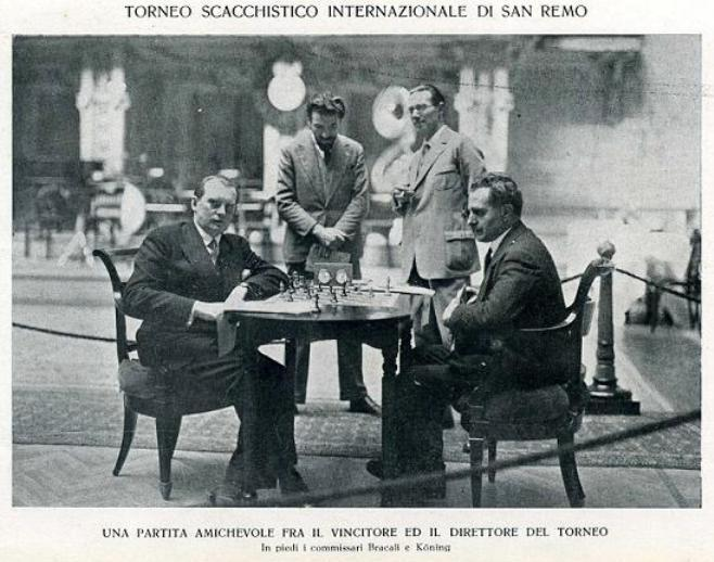 Alekhine e Rosselli Del Turco a Sanremo 1930