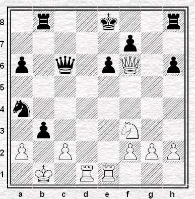 Asztalos Alekhine, posizione dopo 23...cxb3