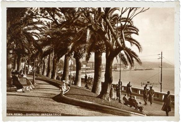 Sanremo 1930 Giardini Imperatrice