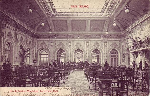 Sanremo 1930 La sala di gioco