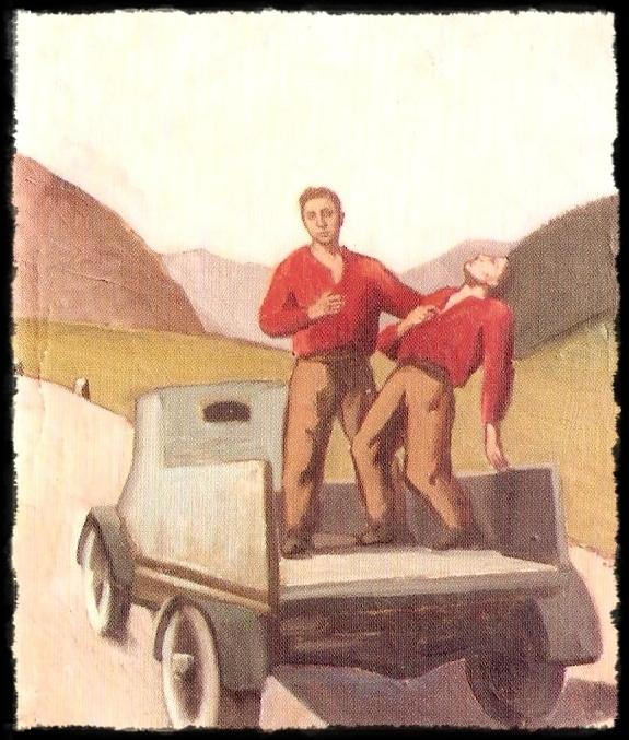 Il partigiano colpito - dipinto di Pietro Morando