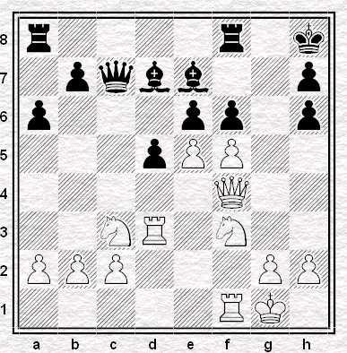 Posizione dopo 19...f6!?