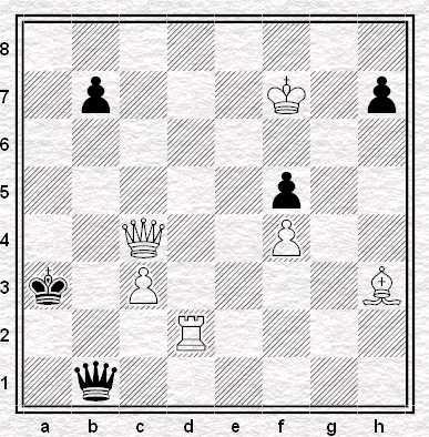 Il Bianco dà matto in 4. Berger Memorial, 1935. Primo premio
