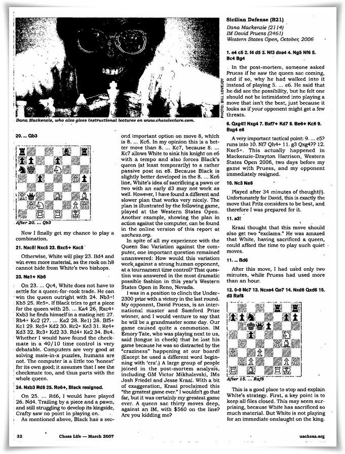 Chess life pag 32