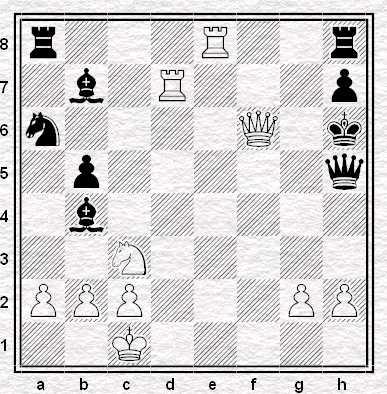26.Dxf6+ eil Nero abbandona