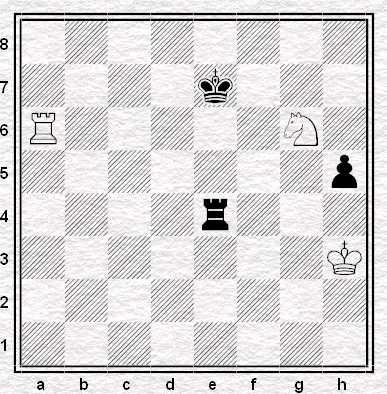 Carlsen vs. Aronian Wijk aan Zee, 2009, posizione dopo la 65esima mossa del Bianco