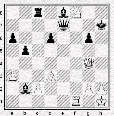 28.Cf8+! e il Nero abbandona
