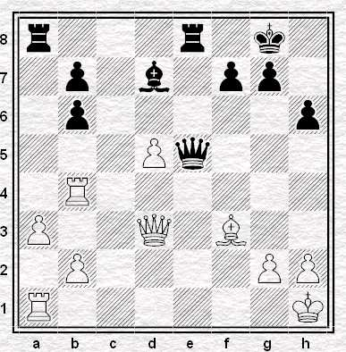 Campionato URSS 1965: Mikenas ha appena giocato 24.Th4-b4