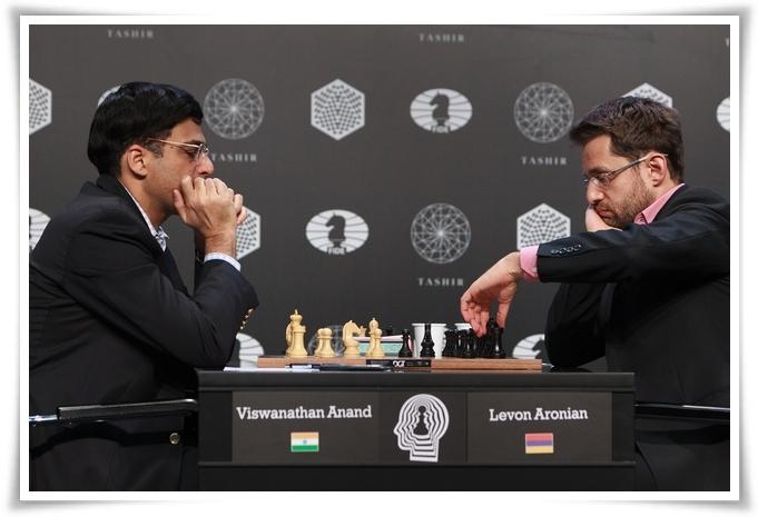 Dal sito ufficiale la vittoria, al nono turno, di Anand su Aronian.