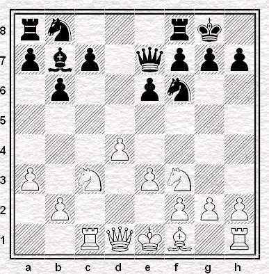 Posizione dopo 10...Cf6?!