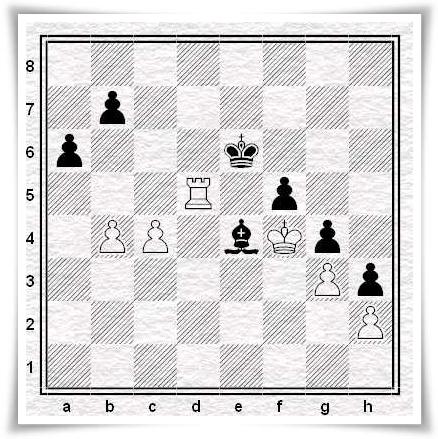 Dvirnyy vs. Moroni, posizione dopo 56...Ae4