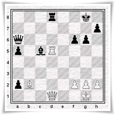 Ortega - Moroni, posizione dopo 30.Txd5